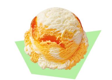 オレンジのアイスクリーム